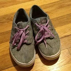 Vans Kids Grey and Purple